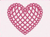6003/0005 - LATTICE HEART ~ Floral Flourishes - JOY CRAFTS Cutting Stencil