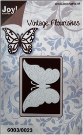 6003/0023 - BUTTERFLY ~ Vintage Flourishes - JOY CRAFTS Cutting Stencil