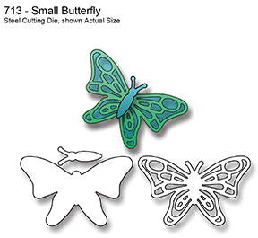713  ~ SMALL BUTTERFLY~ Dies by Elizabeth Craft Designs