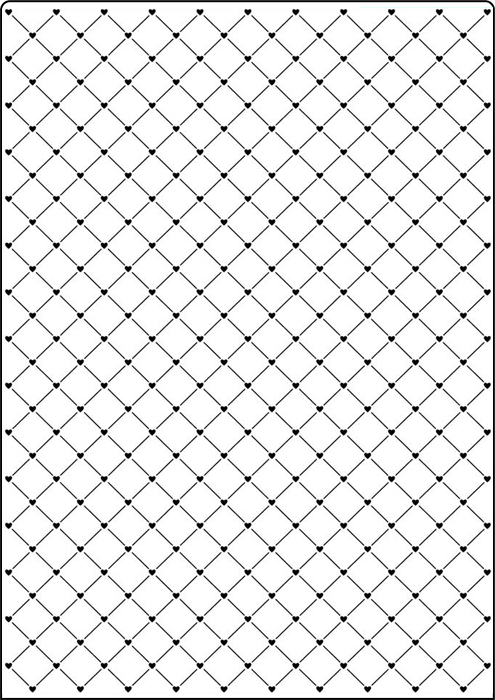 Cta416 Heart Lattice A4 Embossing Folder By Crafts Too