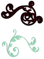 CTDI 7002 ~ ELEGANT FLOURISH DIE ~ Crafts Too Cutting and Embossing Die