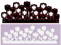 CTDI 7013 ~ TULIP GARDEN DIE ~ Crafts Too  Cutting and Embossing Die