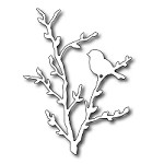 FRA-DIE-09180 ~ BIRD ON PUSSYWILLOW BRANCH  ~  from FRANTIC STAMPER