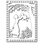 FRA-DIE-09221 ~ MOTHER AND CHILD CARD PANEL die ~ from FRANTIC STAMPER