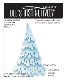 IME027~ SNOWCOVERED TREE (large) ~ Dee's Distinctively Dies