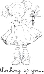 Mo143 Sorry Shanna By Mo Manning Unmounted Grey Rubber Stamp