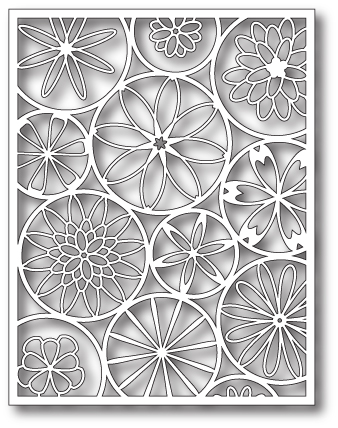 1011 ~ MOD FLOWER BACKGROUND  ~ Poppystamps die