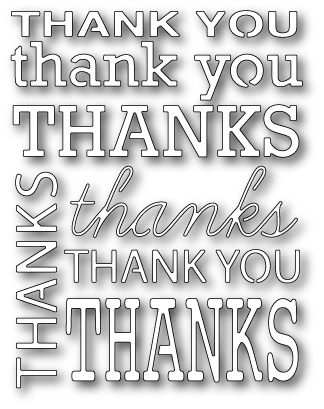 1031 ~ THANK YOU BACKGROUND ~ Poppystamps die