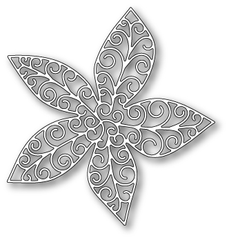 1044 ~ GRAND LUXE POINSETTIA OUTLINE ~ Poppystamps die