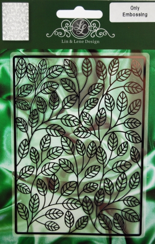 1201-0008~ LEAVES ~ Embossing Stencil