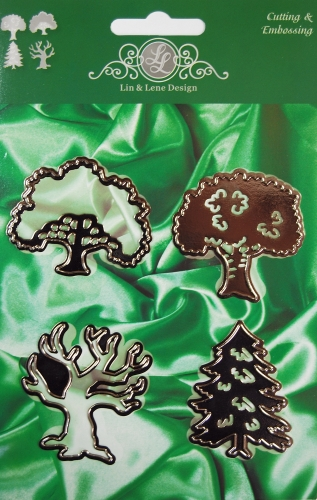 1201-0017 ~ 4 TREES~ Cutting, Embossing.