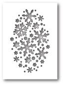1610 ~ SNOWFLAKE OVAL COLLAGE ~ Poppystamps die