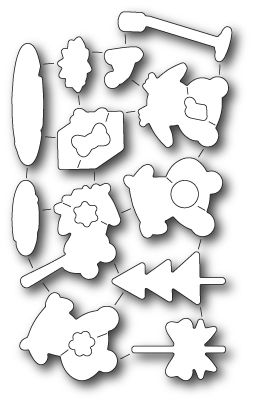 32159~ HOPPY HOLIDAY DIE SET ~ Open Studio by Memory Box dies (