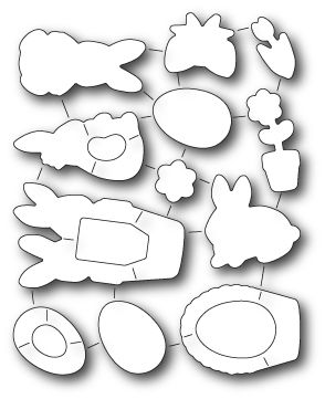 32169 ~ SPRINGTIME BUNNIES DIE SET ~ Open Studio by Memory Box dies
