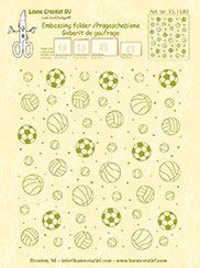 35.1680 ~ BACKGROUND SPORT ~ embossing folder ~ Leane Creatief BV
