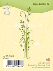 55.0409 ~ GRASS  ~ Leane Creatief Clear Stamp