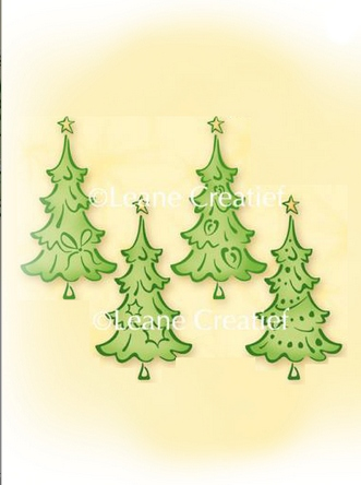 55.0904 ~ CHRISTMAS TREE SMALL  ~ Leane Creatief Clear Stamp