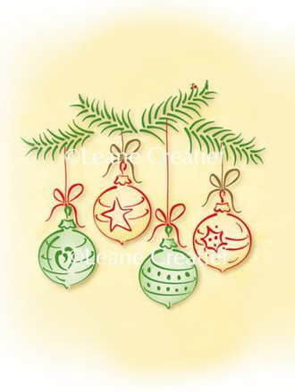 55.0911 ~ CHRISTMAS ORNAMENTS - SMALL  ~ Leane Creatief Clear Stamp