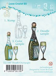 55.1307 ~ DOODLE CHAMPAGNE ~ Leane Creatief Clear Stamp