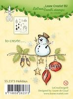 55.2373 ~ HOLIDAYS  ~ Leane Creatief Clear Stamp
