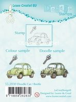 55.2830 ~ DOODLE CAR/BEETLE  ~ Leane Creatief Clear Stamp