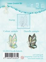 55.2854 ~ DOODLE BUTTERFLY  ~ Leane Creatief Clear Stamp