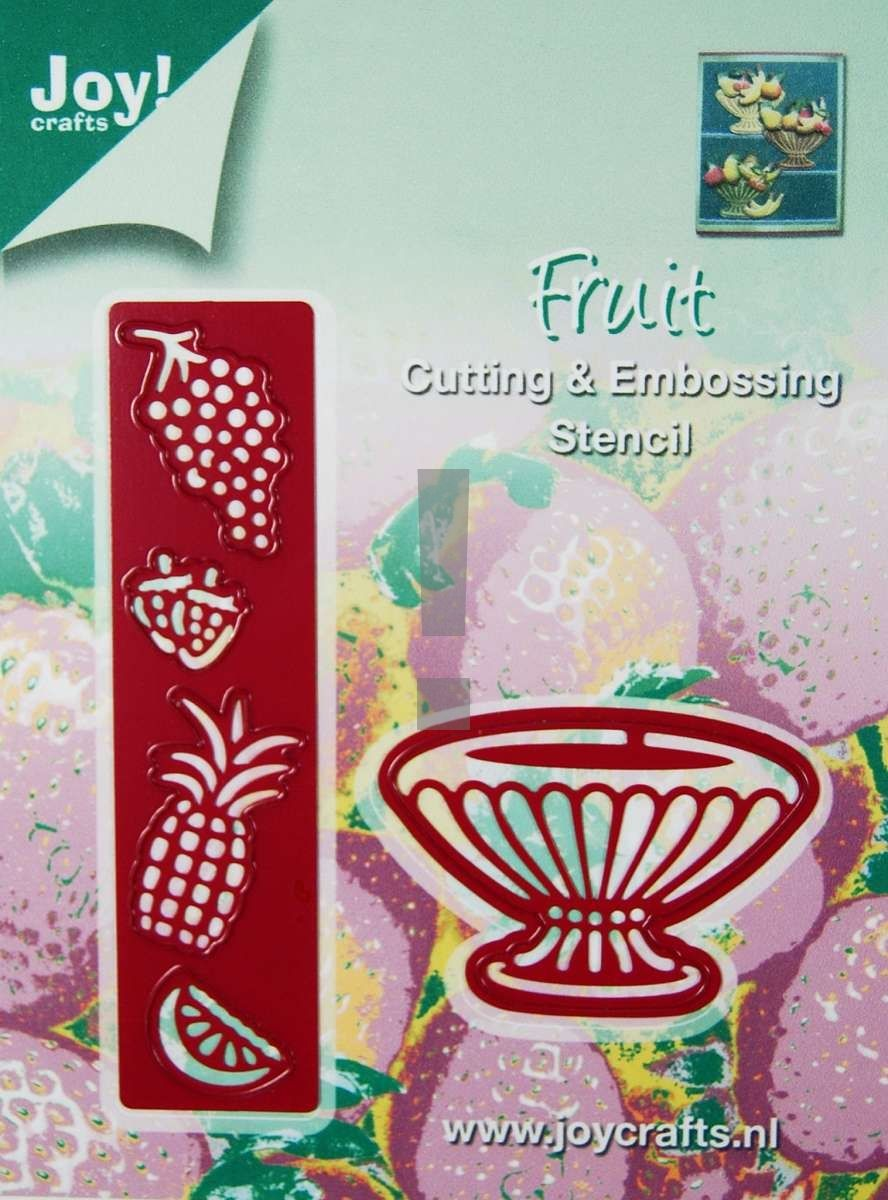 6002/0130 ~ FRUIT AND BOWL ~ JOY CRAFTS Cut+Emboss dies DISCONTINUED