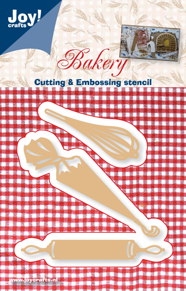 6002/0307 ~ BEATER, ICING BAG, ROLLING PIN ~ JOY  CRAFTS Cut+Emboss dies