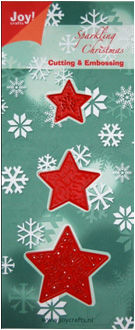 6002/2003 ~ CHRISTMAS STARS ~ JOY CRAFTS Cut+Emboss dies