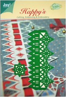 6002/2009 ~ CHRISTMAS STAR RIBBON RULER ~ JOY CRAFTS Cut+Emboss+Embroidery dies
