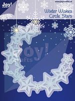 6002/2042 ~ WINTER WISHES CIRCLE STARS ~ JOY CRAFTS Cut+Emboss dies