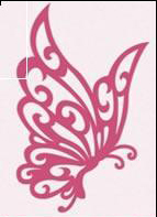 6003/0006 - BUTTERFLY ~ Floral Flourishes - JOY CRAFTS Cutting Stencil