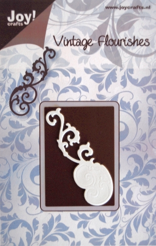 6003/0014 - FLOURISH 1~ Vintage Flourishes - JOY CRAFTS Cutting Stencil