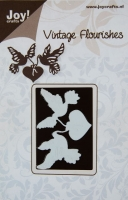 6003/0016 - DOVES & HEARTS ~ Vintage Flourishes - JOY CRAFTS die