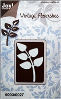 6003/0027 - BRANCH LEAVES (THICK) ~ Vintage Flourishes - JOY CRAFTS Cutting Stencil