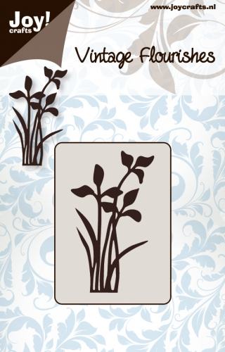 6003/0029 ~ VINTAGE FLOURISH - FLOWER/LEAF 1 ~  JOY CRAFTS Cutting Stencil