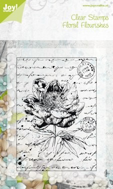 6410/0043 ~ OLD LETTER ROSE #1 ~ FLORAL FLOURISH ~ JOYCRAFTS CLEAR STAMP