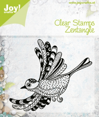 6410/0346 ~ ZENTANGLE BIRD ~ JOYCRAFTS CLEAR STAMP