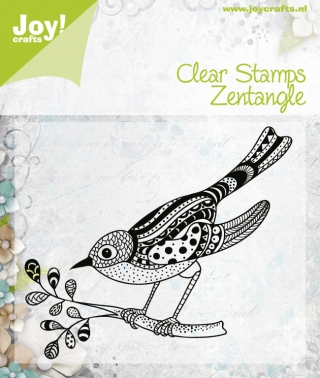 6410/0347 ~ ZENTANGLE BIRD 2 ~ JOYCRAFTS CLEAR STAMP