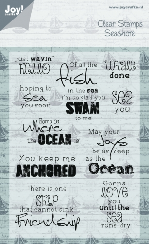 6410/0360 ~ AT THE SEA (WORDS) ~ JOYCRAFTS CLEAR STAMP