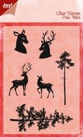 6410/0428 ~ PINE TREES REINDEER ~ JOYCRAFTS CLEAR STAMP