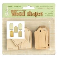 71.2465 ~ TAGS RECTANGLE - WOOD SHAPES  ~ by Leane Creatief