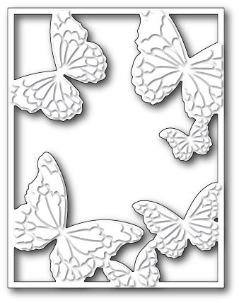 99372 HOVERING BUTTERFLY FRAME Memory Box die