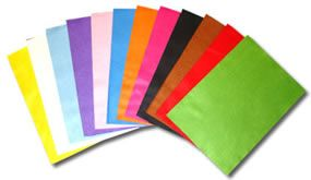 A4 PACK OF FELT ~ 6 colours ~ BRIGHTS ~ one of each ~ Crafts Too