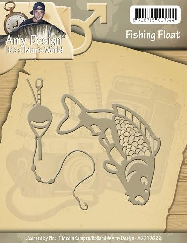 ADD10026 ~ Its a Mans World ~  Fishing Float ~ Amy Design
