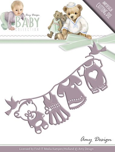 ADD10053  ~ Clothes Line die ~ Baby Collection ~ Amy Design