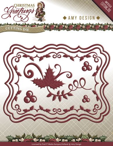 ADD10066 L ~ Christmas Greetings ~ Christmas Card Die Set ~ Amy Design