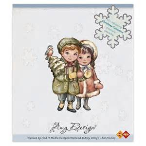 ADST10003 ~ CHRISTMAS COUPLE ~ Amy Designs Clear Stamp