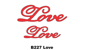 B227  ~ LOVE (SET OF 2) ~ CHEERY LYNN DIE