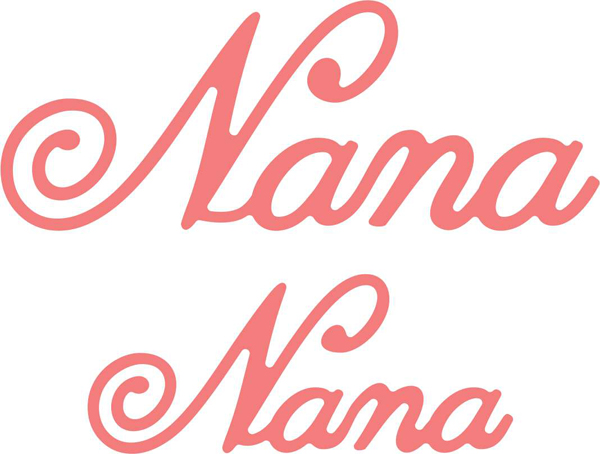 B451 ~ NANA  (SET OF 2) ~ CHEERY LYNN DIES